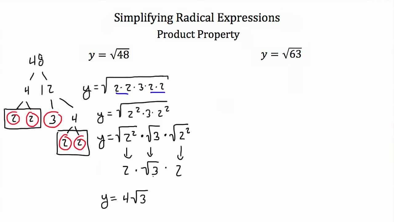 worksheet Multiplying Radical Expressions simplifying radical expressions youtube expressions
