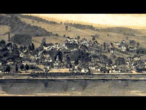 Towanda Pennsylvania 1880 Panoramic Bird's Eye View Map 7407