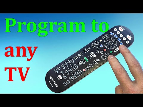 Any TV Spectrum remote control programming without codes