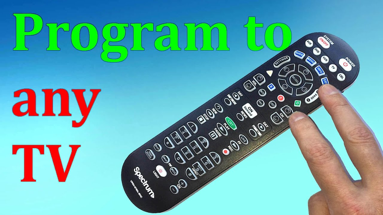 Any Tv Spectrum Remote Control Programming Without Codes Youtube
