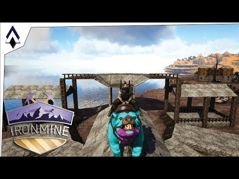 Starting the Stables Ep32 IronMine ARK Gameplay