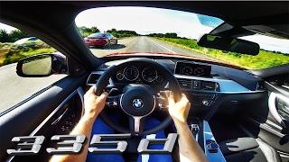BMW 335d vs Tesla Model S P90D POV Autobahn by AutoTopNL
