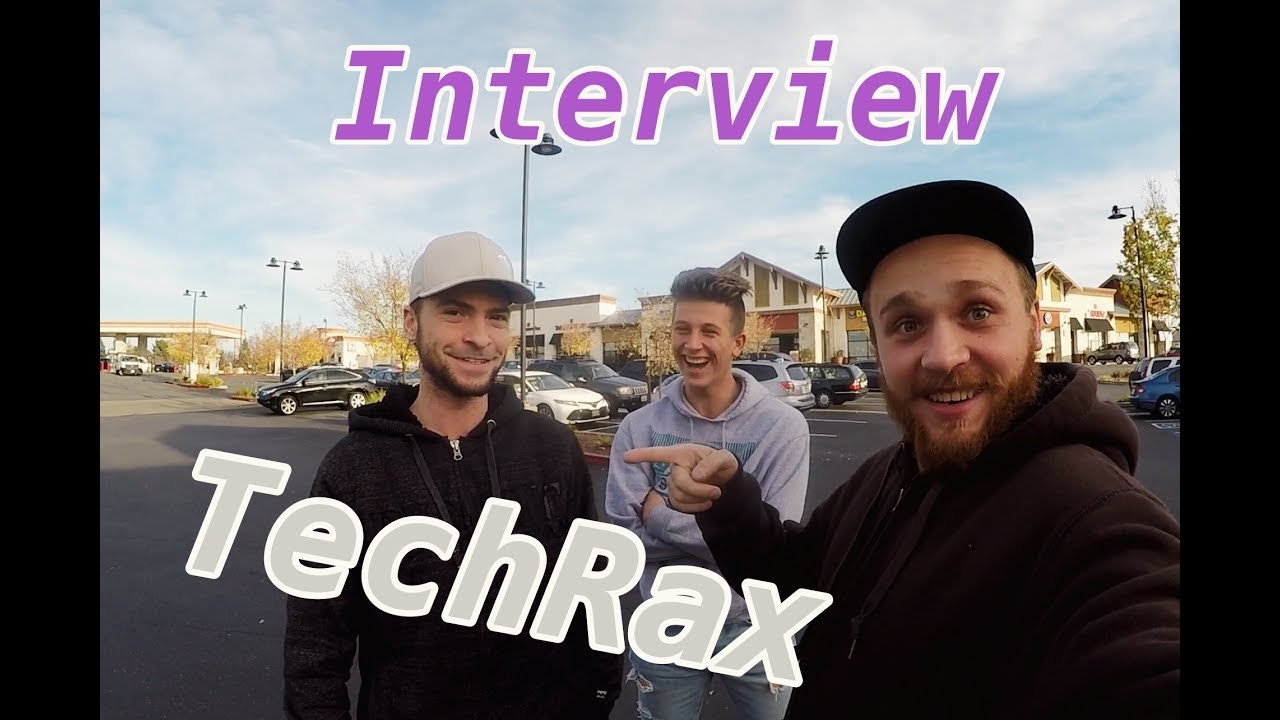 Vlog:TechRax first interview! TechRax первое интервью! usa