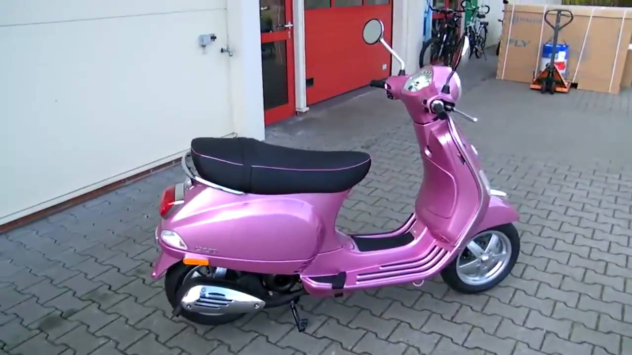 vespa lx 50 2t chic 2010 roller farbe rosa youtube. Black Bedroom Furniture Sets. Home Design Ideas