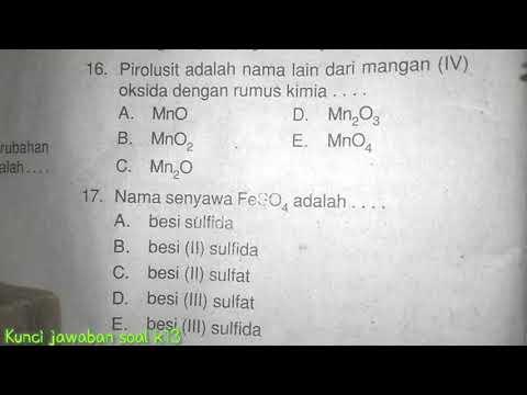 Tuliskan Rumus Kimia Senyawa Berikut Kalsium Sulfida - Bali
