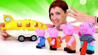 Свинка Пеппа летить на море - Дитяче відео і Маша Капуки Кануки. Конструктор для малюків