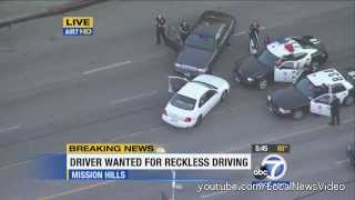 Police Chase - Reckless Driver October 15, 2013