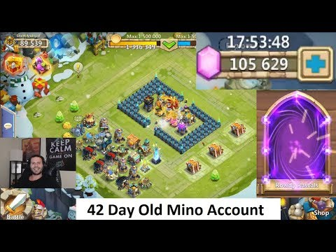 Quickly Rolling 15 Gelatinous Champions New Account Castle Clash