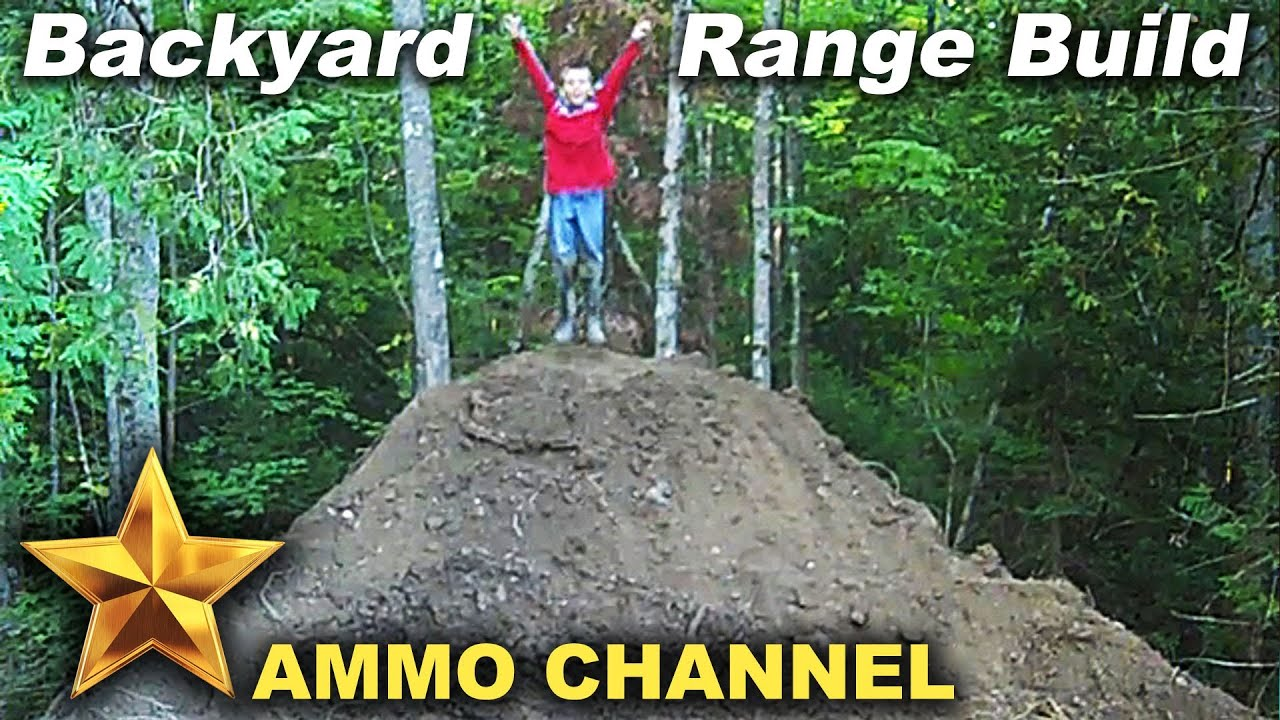 building the backyard shooting range youtube