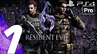 Resident Evil 6 (PS4) - Gameplay Walkthrough Part 1 - Prologue (Chris) [1080P 60FPS]