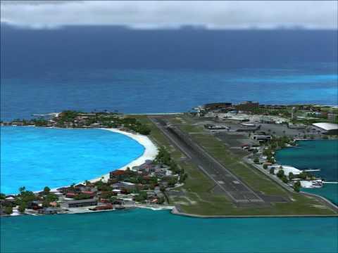 MD 11 Landing rwy27 at Princess Juliana Airport