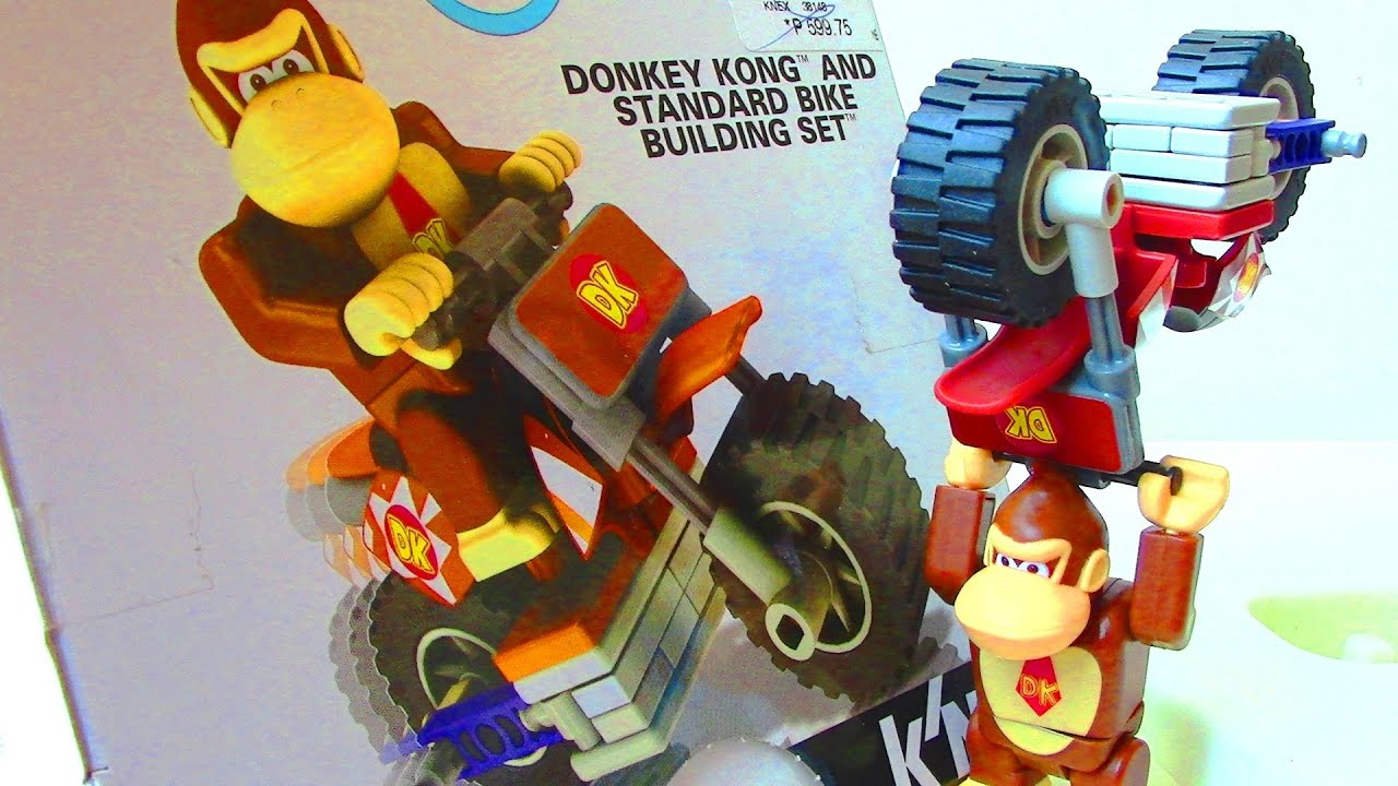 Super Mario Bros: Mario Kart Wii K'nex Donkey Kong and Standard Bike Building Set