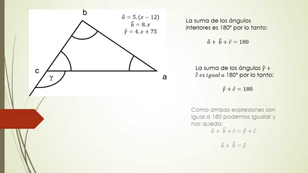 Triangulo Calculo De ángulos Interiores Youtube