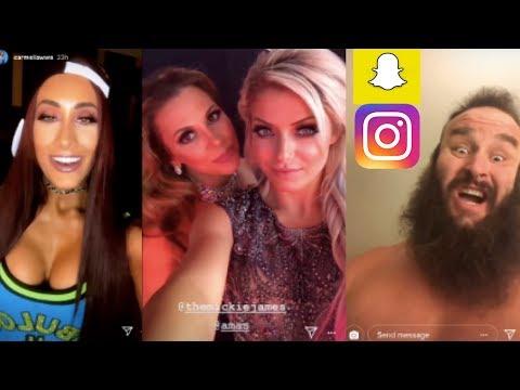WWE Snapchat/Instagram ft. Alexa Bliss, Braun Strowman, Carmella, Kevin Owens n MORE