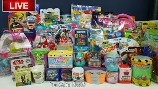 TeamBBB 12ème Toy Unboxing Live Stream. Minecraft Fortnite Trading Cards Disney Shopkins Lego