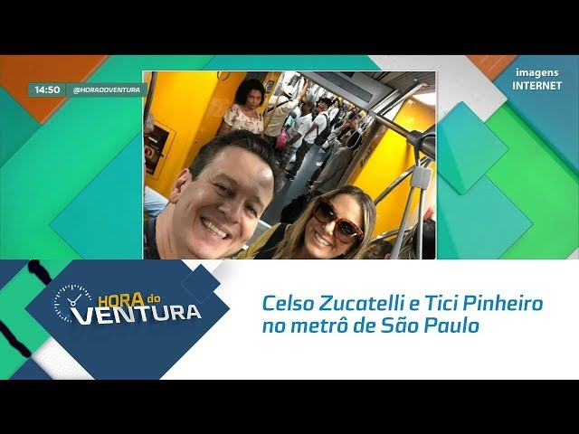 O encontro de Celso Zucatelli e Tici Pinheiro no metrô de São Paulo - Bloco 02