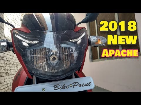 2018 New Tvs Apache 160 RTR BS4 Review Price Mileage New Features good & Bad Point In Hindi