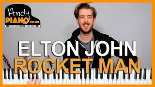 Elton John - Rocket Man Piano lesson tutorial (How to play)