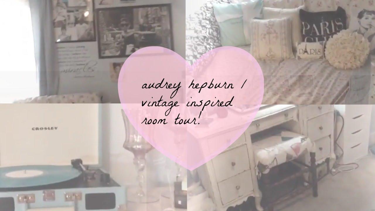 audrey hepburn/vintage inspired room tour! ♡