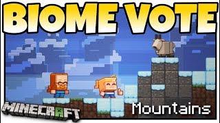 Minecraft - BIOME VOTE - MINECON LIVE ! GOATS & SNOWY SNOW = MOUNTAIN - MCPE / Bedrock / Java