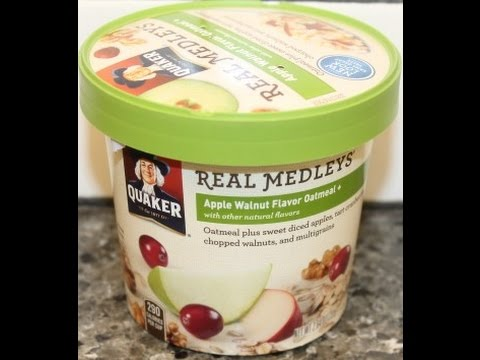 quaker-real-medley's:-apple-walnut-flavor-oatmeal-review