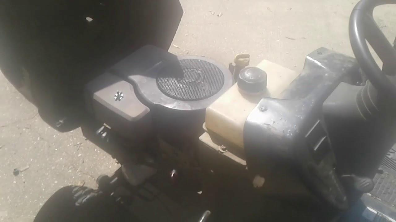 LT1000 mower budget oil change