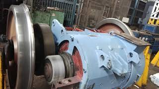 How to testing of AC TRACTION MOTOR with wheel set at 25kv