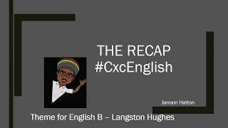 The Recap: Theme for English B