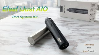Eleaf iJust AIO Pod System Kit Unboxing & Review! ( Vapesourcing Review )