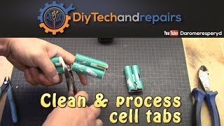 Cleaning 18650 cell ends and quick Internal resistance test