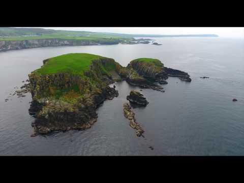 Northern Ireland coastline drone footage