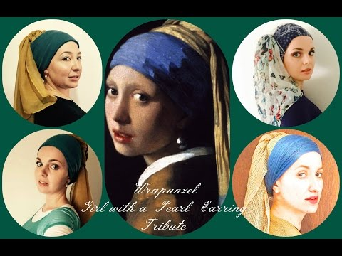 """Wrapunzel """"Girl With A Pearl Earring"""" Tutorial"""