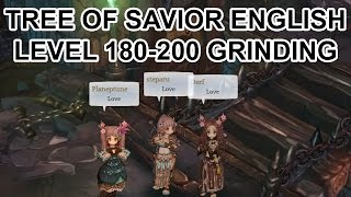 Tree of Savior Online English Level 180-200 Grinding
