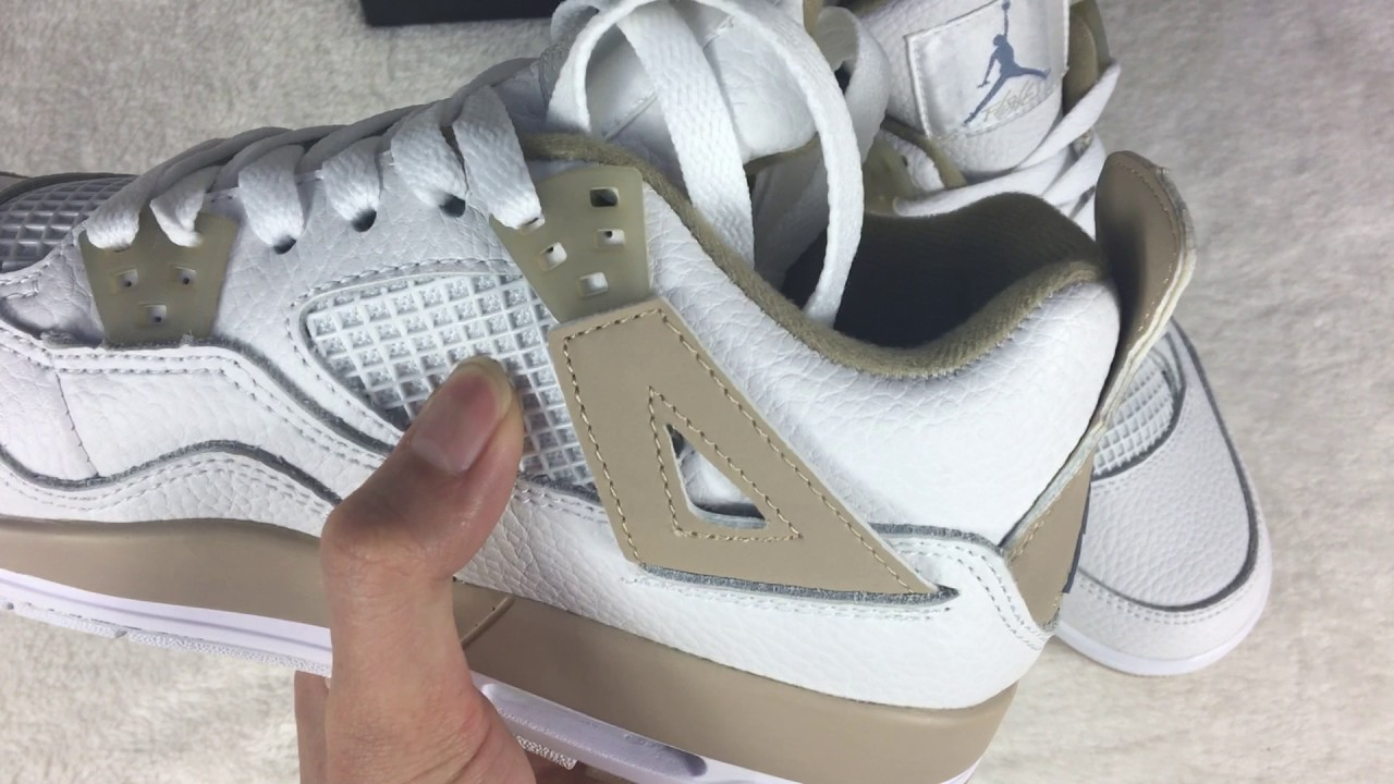 "2a20caa16e54fb Authentic Air Jordan 4 Retro GS ""Linen"" review from gobuykicks. Gobuykicks  Alex"