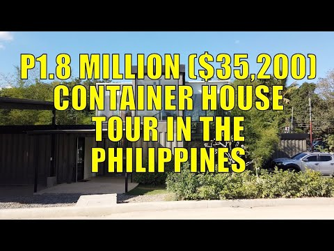 P1.8 Million ($35,200) Container House Tour In The Philippines.