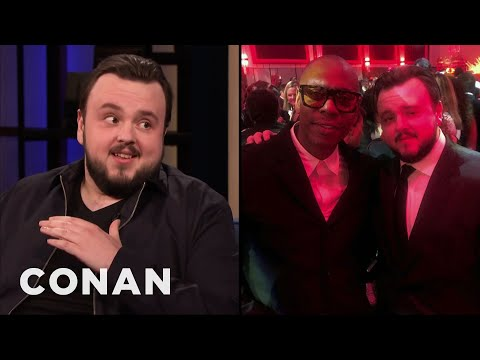 """John Bradley's Dave Chappelle Encounter At The """"Game Of Thrones"""" Premiere - CONAN on TBS"""