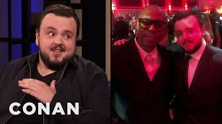 "John Bradley's Dave Chappelle Encounter At The ""Game Of Thrones"" Premiere - CONAN on TBS"