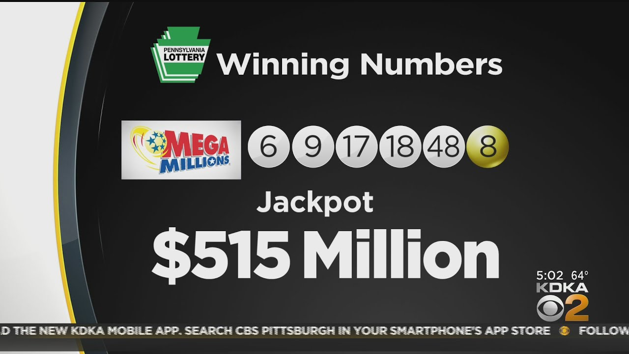 Winning Mega Millions ticket sold in Pa., lottery says