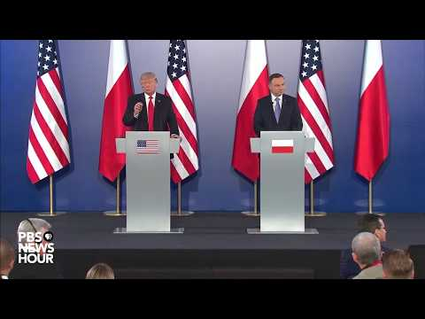 Watch President Trump, Polish President Duda joint news conference