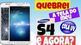 Desmontagem e Troca  de Vidro Samsung S4 9505, 9500 com UV