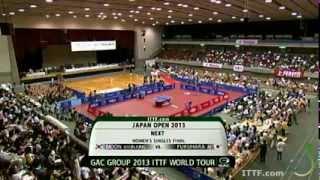 2013 ITTF World Tour. Japan Open. Women's Finals: MOON Hyunjung vs  FUKUHARA Ai