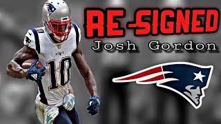 Patriots Re-Sign WR Josh Gordon