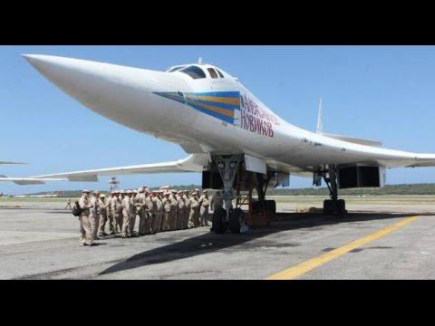 RARE VIDEO US made F-14 flying with Tu-160, Tu-95 & Tu-22M Aircraft
