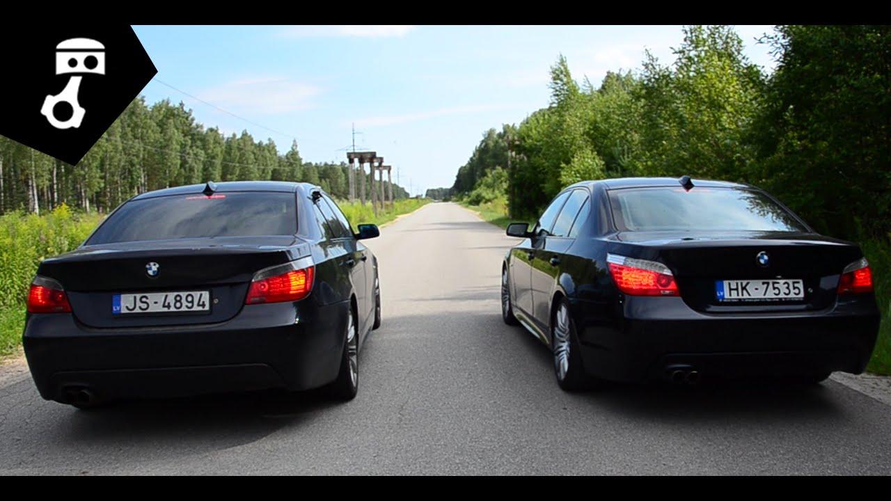 Да видим кое върви повече BMW 535 дизел или 550i бензиново Е60