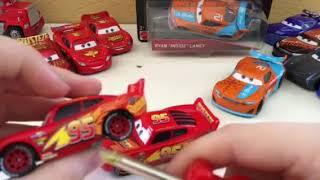 "Disney Pixar cars 3 Rusteze Lightning McQueen and Ryan ""Inside"" Laney diecast review"