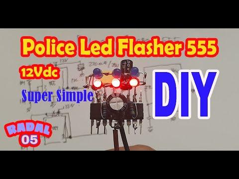 Cara Membuat Police Led Flasher 555 12V Ide Kreatif Elektronik DIY
