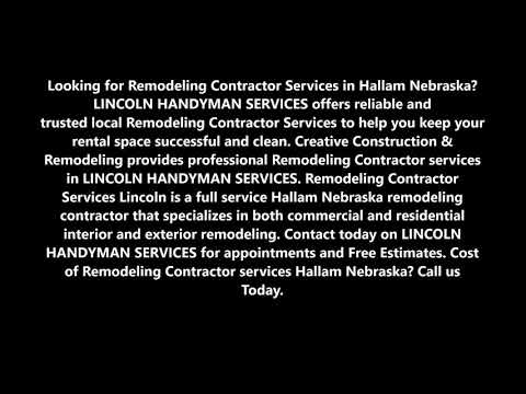 Remodeling Contractor Services and Cost Hallam Nebraska | LINCOLN HANDYMAN SERVICES