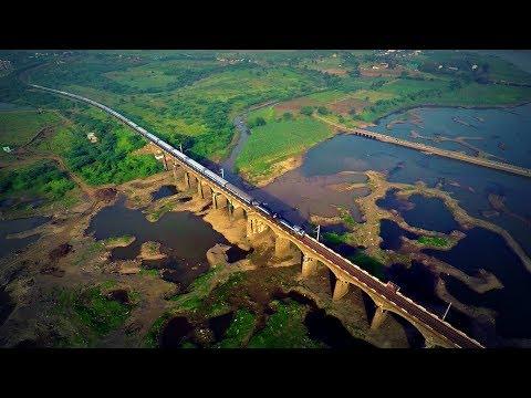 Aerial 360 Degree View of Bhima River near Daund + TNP Twins !!