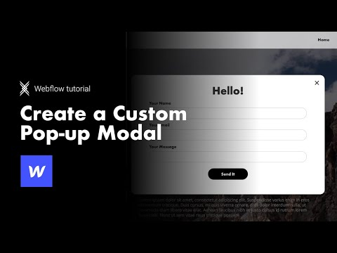 HOW TO: make custom pop up modals in Webflow the easy way