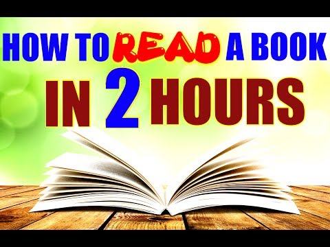 HOW TO READ A BOOK IN 2 HOURS (HINDI) | FASTEST WAY TO READ A BOOK